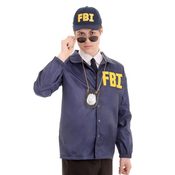 FBI 帽子 & ジャケット コスチューム ハロウィン コスプレ 演劇 舞台 イベント パーティー 大人 通常便は送料無料