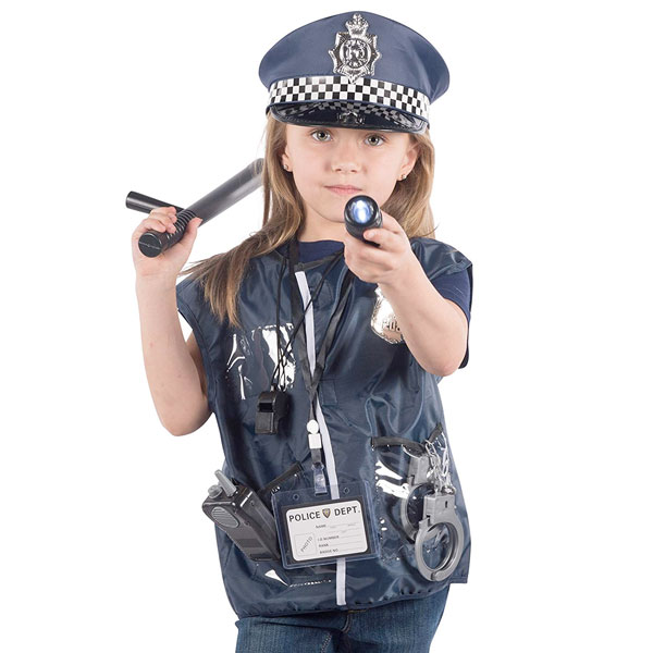 ポリス セット 警察 コスプレ ハロウィン おもちゃ 子供 おまわりさん ごっこ遊び 帽子 ピストル 手錠 警棒 通常便は送料無料