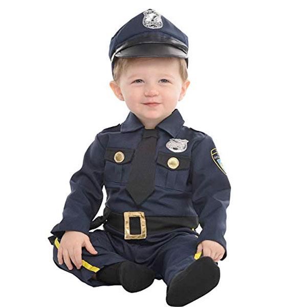 ポリス ベビー 赤ちゃん コスチューム 警察官 ハロウィン コスプレ イベント パーティー 幼児 子供 通常便は送料無料