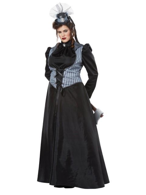 ホラー コスチューム 大きいサイズ 黒 ドレス リジー ドレス・ボーデン 衣装 コスチューム 大きいサイズ 大人用, 赤猫たま商店:fb0a8440 --- officewill.xsrv.jp
