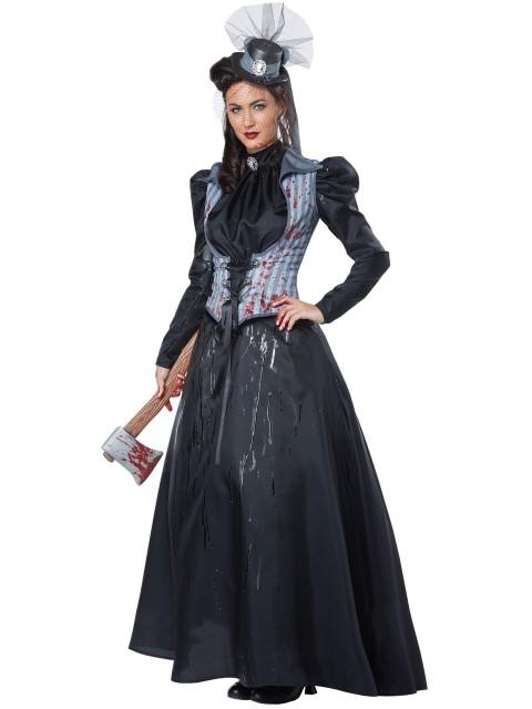 ホラー 黒 衣装 ドレス 大人用 リジー・ボーデン 黒 衣装 コスチューム 大人用, 作業服作業着通販のイエローユニ:4b77b49b --- officewill.xsrv.jp