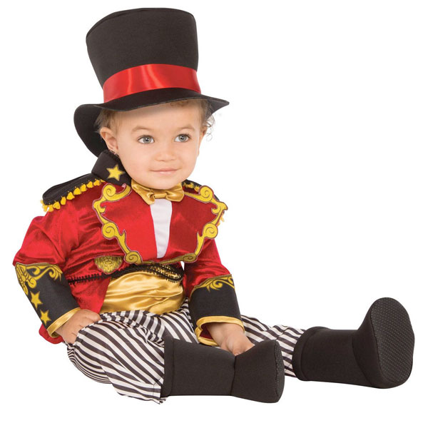 ショーマン サーカス 団長 ベビー コスチューム リングマスター ハロウィン イベント 手品 幼児 子供 赤ちゃん 衣装 通常便は送料無料
