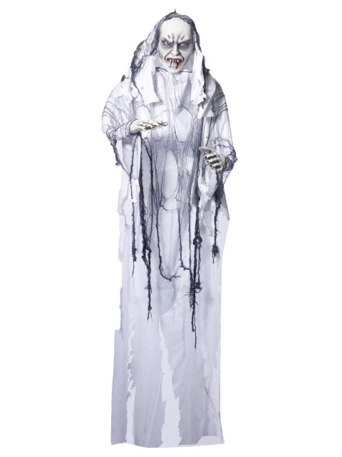 ハロウィン デコレーション ホラー 装飾品 白い吸血鬼 バンパイア 180cm