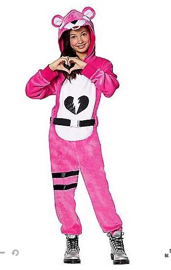 ハロウィン コスプレ 子供 ピンクのクマちゃん コスチューム 服 フォートナイト Fortnite ジュニア キッズ 子供 イベント 衣装 テレビゲーム 通常便なら送料無料