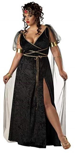 メデューサ コスチューム 大きい サイズ ヘッド アクセサリー ハロウィン コスプレ 神話 衣装 レディース プラスサイズ 大人