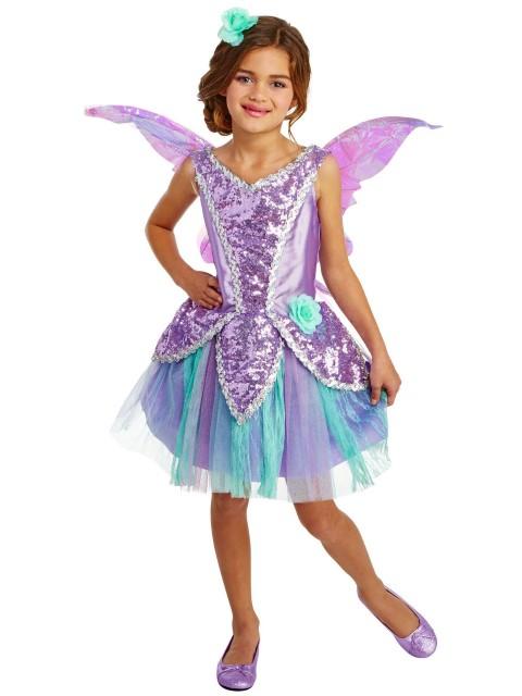 妖精 ラベンダー フェアリー コスチューム ハロウィン コスプレ 衣装 イベント 仮装 パーティー 子供 キッズ