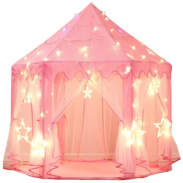 プリンセス風ピンクテントハウス プレイハウス キッズテント 子供用テント 女の子