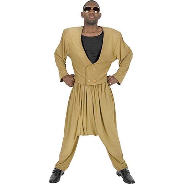 MCハマー大人用 コスチューム コスプレ 80's 80年代 MC ラッパーパンツ 仮装 衣装 ダンス ハロウィン 通常便は送料無料