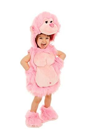 ピンクのゴリラ 赤ちゃん 女の子 動物 仮装 コスプレ ハロウィン コスチューム 衣装