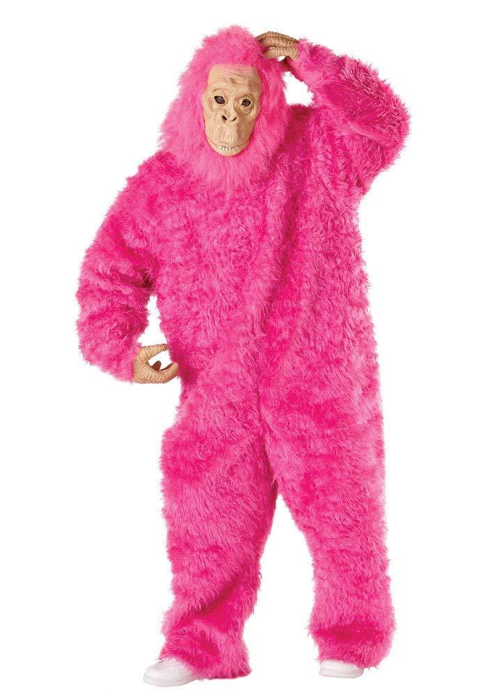 ゴリラ ピンク 着ぐるみ 大人 動物 仮装 キングコング コスプレ ハロウィン コスチューム 衣装