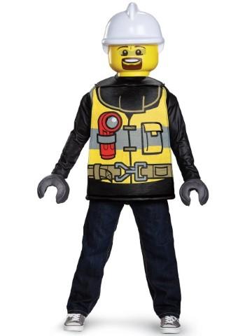 レゴ 消防士 コスチューム LEGO 人形 コスプレ ハロウィン 衣装 イベント 仮装 パーティー 子供 キッズ