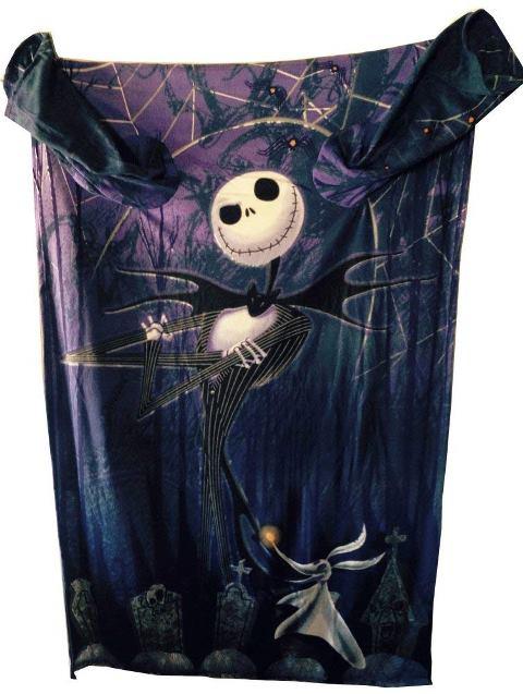 ナイトメアー ビフォア クリスマス 袖付き ブランケット ひざ掛け 毛布 180cmx121cm