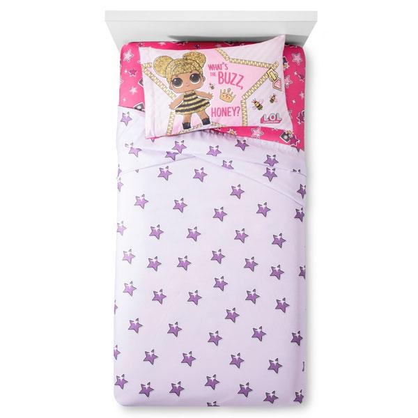 L.O.L. サプライズ! グッズ グリッタフル シーツセット シングル サイズ 子供 寝具 通常便は送料無料