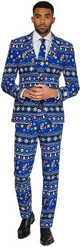オッポスーツ ウィンター マリオ 派手 メンズ スーツ クリスマス スーパーマリオ 大人 パーティー 通常便は送料無料 テレビゲーム