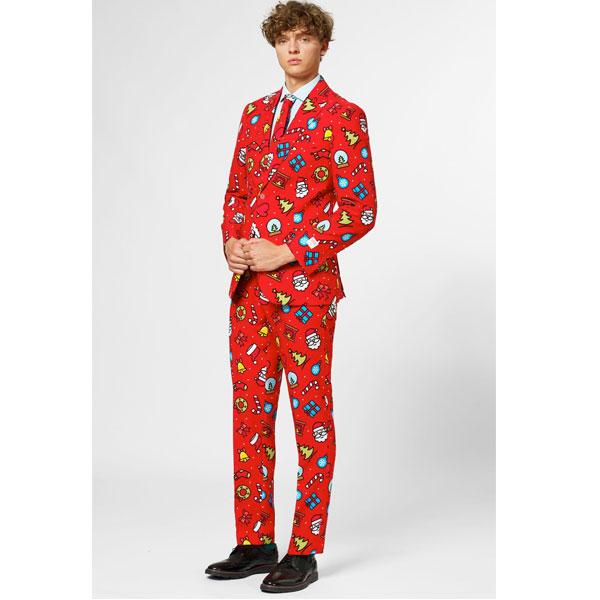 オッポスーツ クリスマス アイコン 派手 メンズ スーツ クリスマス 大人 パーティー 通常便は送料無料