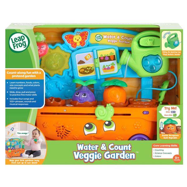 リープフロッグ ベジー ガーデン ウォーター&カウント 子供 知育 英語 おもちゃ 通常便は送料無料