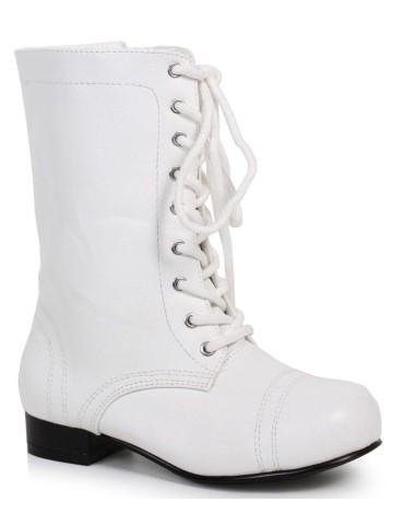 ホワイト アンクル コンバット ブーツ 子供 靴 メリー・ポピンズ 仮装