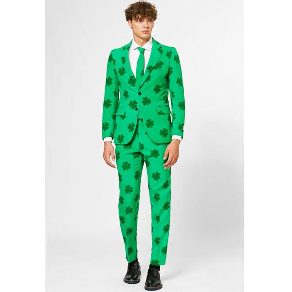 オッポスーツ セント パトリックス デー 派手 緑 クローバー メンズ スーツ 大人 パーティー 聖パトリック 舞台 衣装 芸人 通常便は送料無料