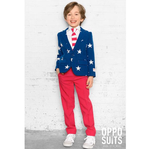 オッポスーツ アメリカン USA 派手 ボーイズ スーツ 子供 パーティー 星条旗 衣装 通常便は送料無料