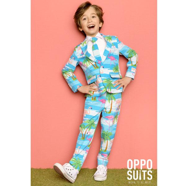 オッポスーツ トロピカル フラミンゴ 派手 ボーイズ スーツ 子供 パーティー 衣装 通常便は送料無料
