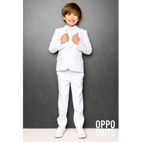 オッポスーツ ホワイト ボーイズ スーツ 白 子供 パーティー 真っ白 祝い 記念 結婚式 衣装 通常便は送料無料