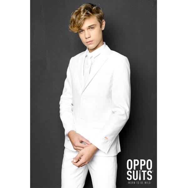 オッポスーツ ホワイト ティーンズ スーツ 白 子供 パーティー 真っ白 祝い 記念 結婚式 衣装 通常便は送料無料