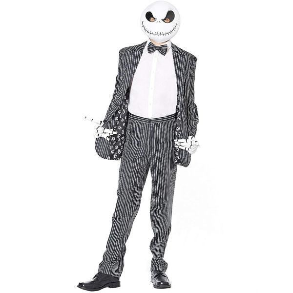 ナイトメアー ビフォア クリスマス ジャック スケリントン コスチューム 衣装 メンズ 大人 通常便は送料無料