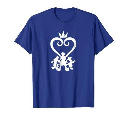 キングダムハーツ Tシャツ メンズ ロイヤルブルー ディズニー オフィシャル 大人