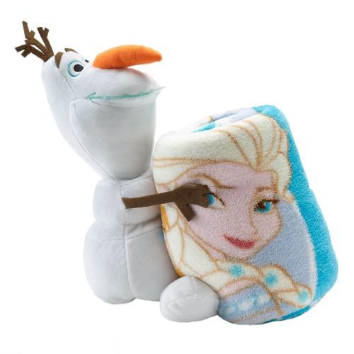 ひざ掛け 毛布 ディズニー ベビー キッズ エルサ オラフ ぬいぐるみと毛布のセット