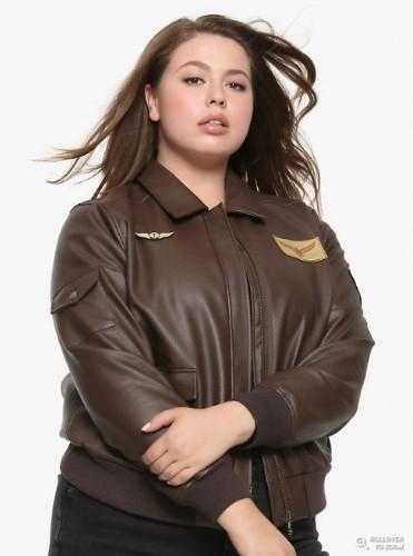 キャプテン マーベル フェイクレザー アビエーター ジャケット プラスサイズ 大きい サイズ