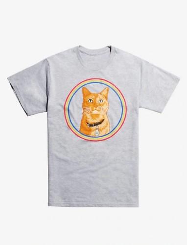 キャプテンマーベル Tシャツ グース メンズ Tシャツ ネコ
