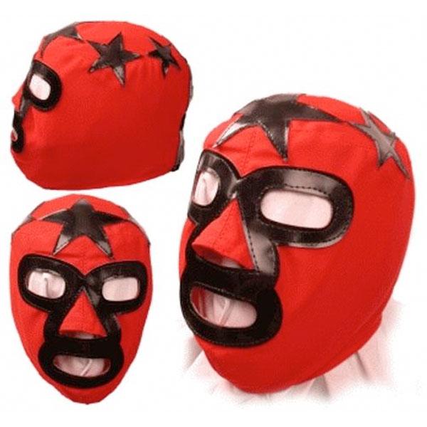 キッズ マスクド スーパースター プロレス マスク WWE レッド/ブラック
