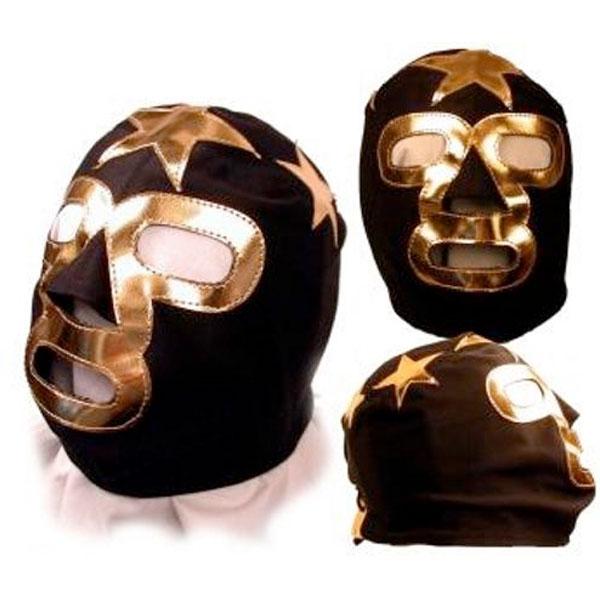 キッズ マスクド スーパースター プロレス マスク WWE ブラック/ゴールド