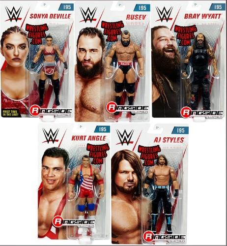 WWE シリーズ 95 アクション フィギュア 5セット ルセフ AJスタイルズ カート・アングル ブレイ・ワイアット ソーニャ・デビル