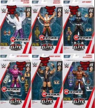 WWE エリート 67 アクション フィギュア 6セット ジェフ・ハーディー ランディ・オートン セドリック・アレクサンダー ヴェルヴェティーン・ドリーム シェイナ・ベイズラー レイ・ミステリオ