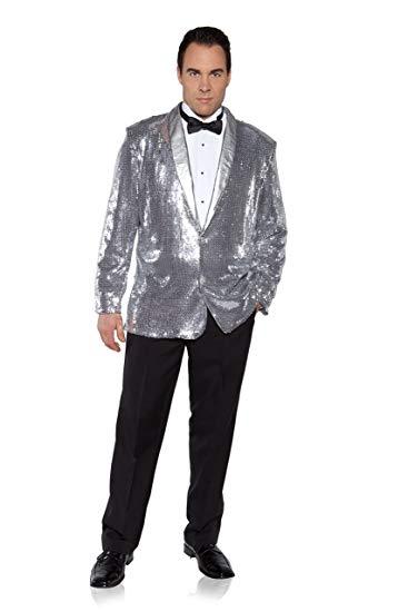 メンズ 派手 な ジャケット きらきら 目立つ シルバー スパンコール 結婚式 ステージ衣装 芸人 舞台 ディスコ