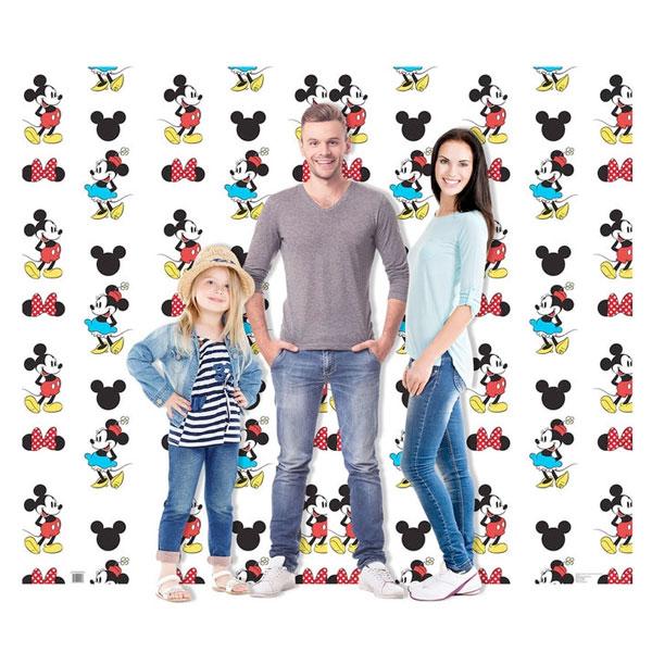 ミッキー マウス & ミニー マウス 背景 ダブルワイド 映画館 パネル ディズニー 写真 インテリア グッズ 店舗 イベント 飾り