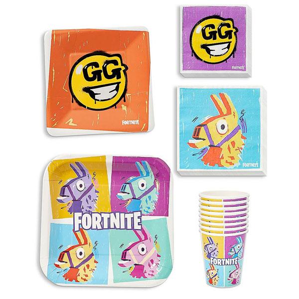 フォートナイト グッズ 紙皿 紙コップ パーティーパック 8人 テレビゲーム