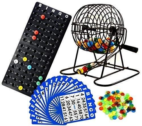 ビンゴ ケージ ゲーム セット デラックス 18カード カラフルボール ゲーム