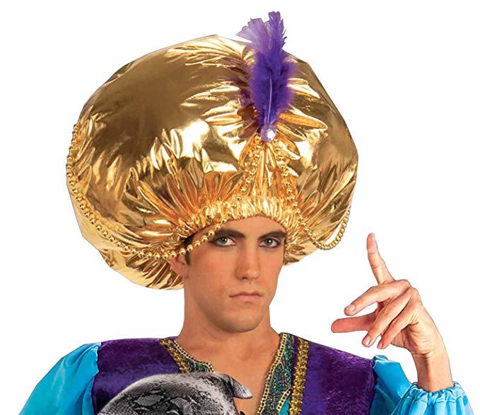 中東 アラブ メンズ ジャイアント ターバン コスプレ かぶりもの 帽子 アクセサリー
