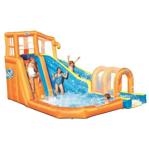 プール 家庭用 水遊び 大型 遊具 インフレータブル ハリケーン トンネル ブラスト ウォーター パーク 子供 野外 屋外 家