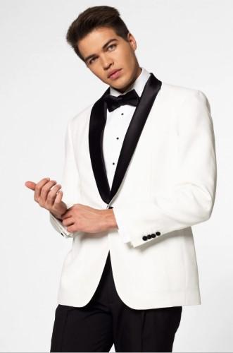 オッポスーツ タキシード パールホワイト おしゃれ メンズ スーツ 大人 舞台 衣装 芸人 結婚式