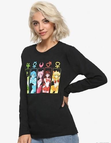 美少女戦士セーラームーン Tシャツ セーラー ガーディアンズ パネル ガールズ Tシャツ 長袖 パジャマ にも