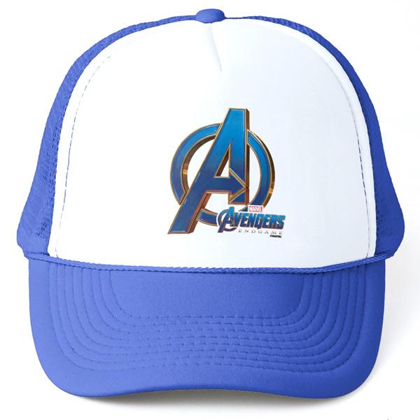 アベンジャーズ エンドゲーム アベンジャーズ 帽子 ブルー&ゴールド ロゴ トラッカー ハット キャップ