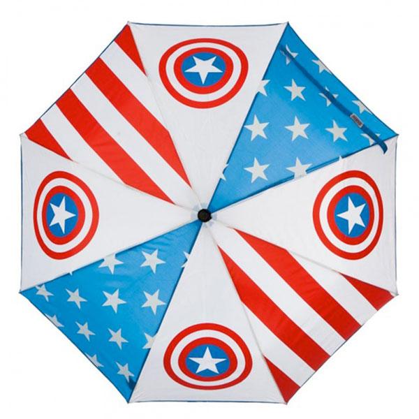 キャプテン アメリカ 傘 ロゴ 折りたたみ マーベル
