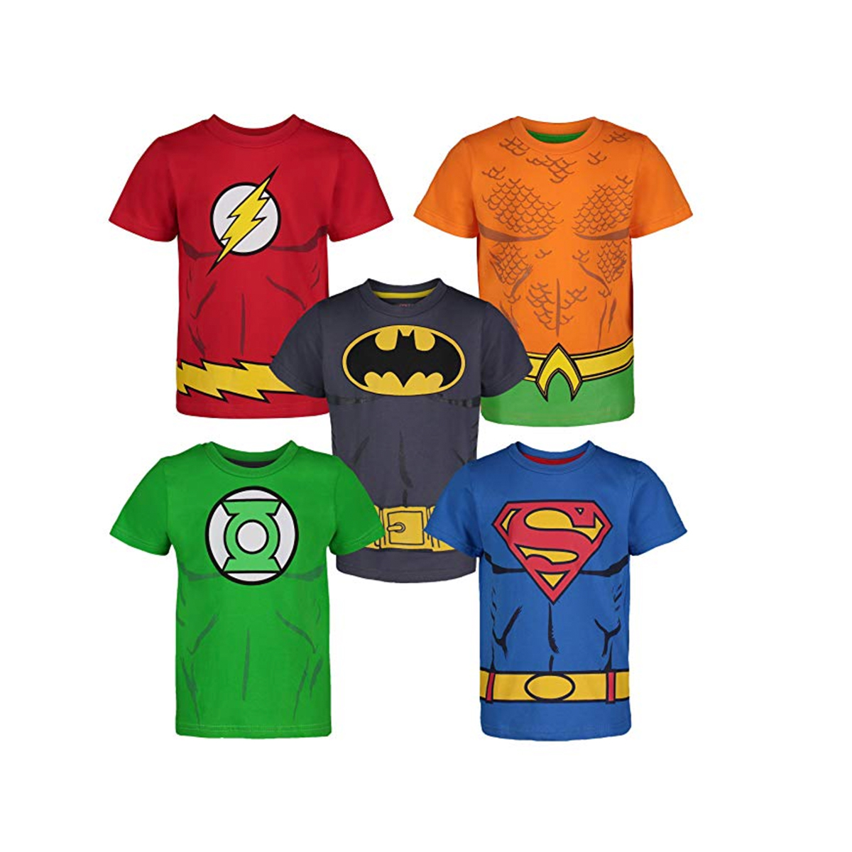 スーパーマン Tシャツ 5枚セット 子供 ジャスティスリーグ