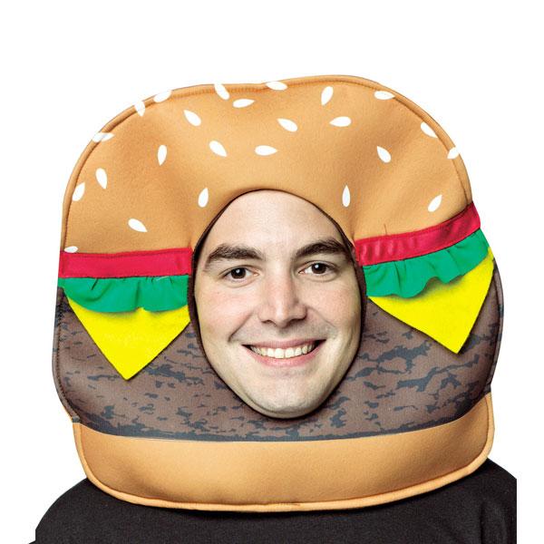 ハンバーガー チーズバーガー 大人 かぶりもの コスプレ ハロウィン イベント パーティー 通常便は送料無料
