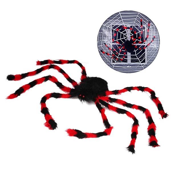ハロウィン 装飾 大きな クモ 飾り 肝試し 赤・黒 お化け屋敷 イベント パーティー 127cm