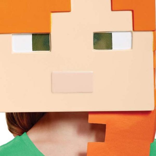 マインクラフト アレックス 子ども マスク ハロウィン 衣装 コスプレ コスチューム 仮装 パーティー グッズ キッズ マイクラ 被り物 テレビゲーム