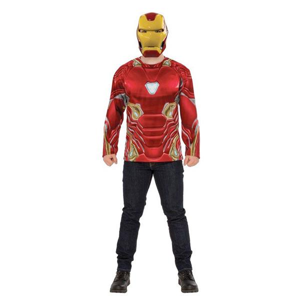 アベンジャーズ エンドゲーム アイアンマン 上半身 コスチューム 大人 衣装 ハロウィン コスプレ 仮装 スーツ ヘルメット マスク